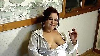 Smoking And Masturbating In Pantyhose - Alhana Winter - Antique Rottenstar
