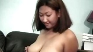 """edpowers - Buxom Asian Leila Lengthy Dicked Before Facial Cumshot"""