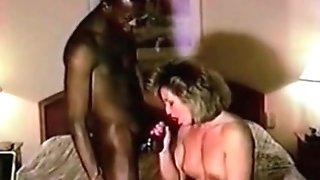 Cuckolf MUMMY railing BIG BLACK COCK Hubby feminized male cleans up after bull