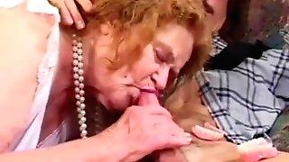 Toothless Granny Deep-throats And Fucks