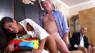 Old Antique Inexperienced And Nasty Old Grand-pa And Madison Scott Old Dude And