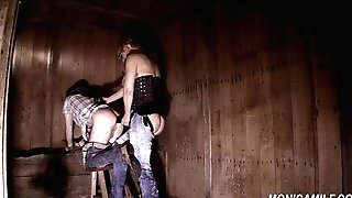Dirty female dominance barngirl is fucking and pegging - Norske Monica